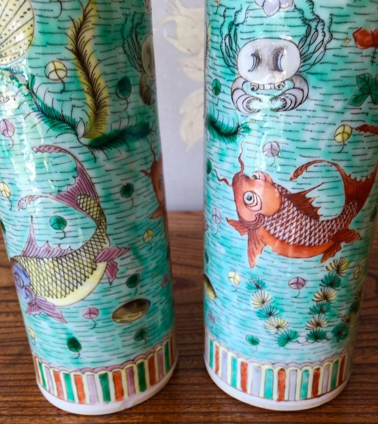 Trumpet Shaped Fish Vases For Sale 2