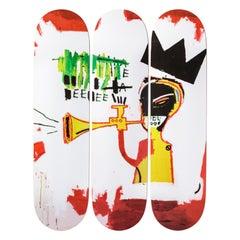 Trompeten Skateboard-Decks nach Jean-Michel Basquiat