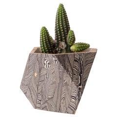 Truncated Tetrahedron Vessel Handmade Ceramic Planter Unique Edition
