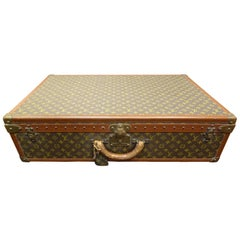 Trunk Alzer Louis Vuitton 1980s, Toile Enduite Monogram