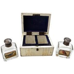 Trunk Designed Perfume Bottle Travel Carrier, American, circa 1910