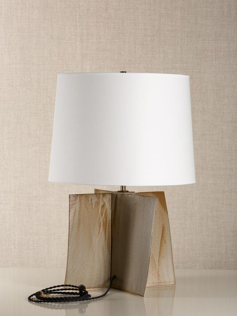 Modern Truro Lamp, Ceramic Sculptural Table Lamp by Dumais Made For Sale