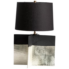 Truro Lamp, Gilded, Ceramic Sculptural Table Lamp by Dumais Made