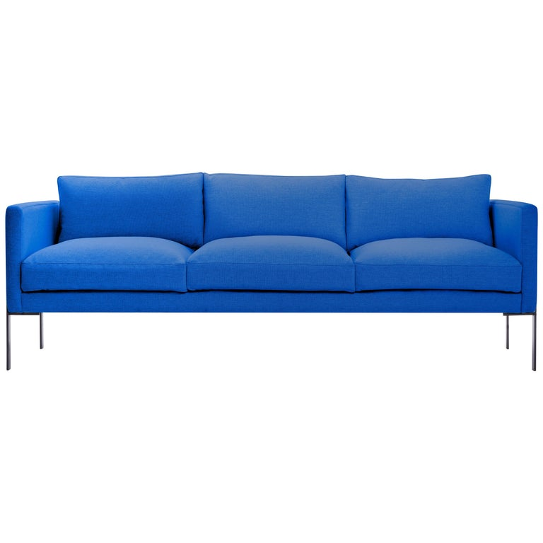 Truss Sofa in Maharam Ash Fabric and Powder-Coated Steel by TRNK For Sale