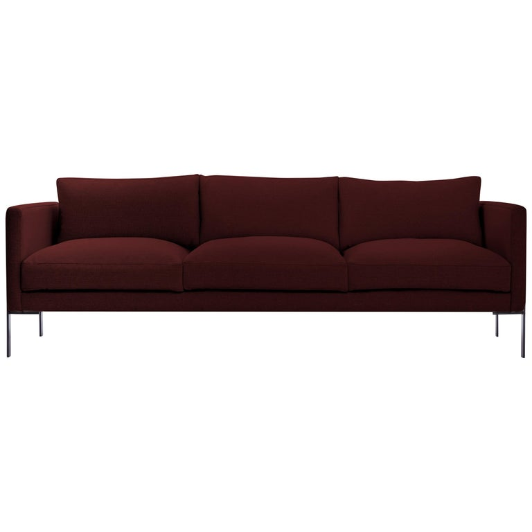 Truss Sofa in Maharam Cassis Fabric and Powder-Coated Steel by TRNK For Sale