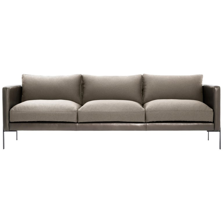 Truss Sofa in Mixed-Media Greige and Ash by TRNK For Sale
