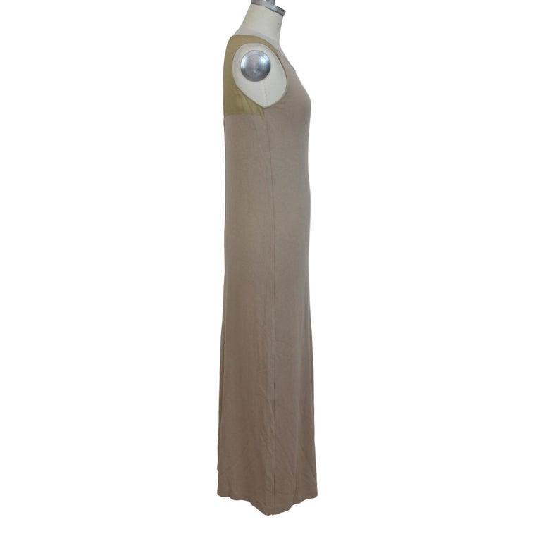 Women's Trussardi Beige Cotton Long Tunic Cocktail Dress For Sale