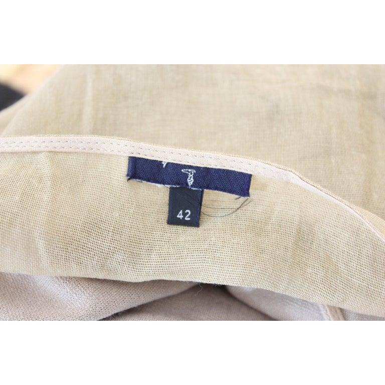 Trussardi Beige Cotton Long Tunic Cocktail Dress For Sale 2