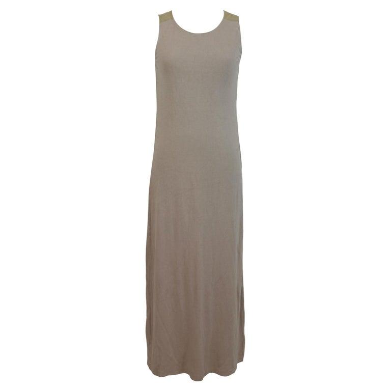 Trussardi Beige Cotton Long Tunic Cocktail Dress For Sale