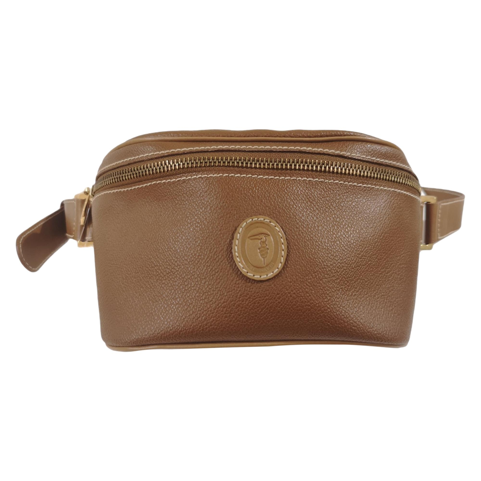 Trussardi brown leather fanny pack