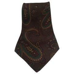 Trussardi dark green multicoloured silk tie