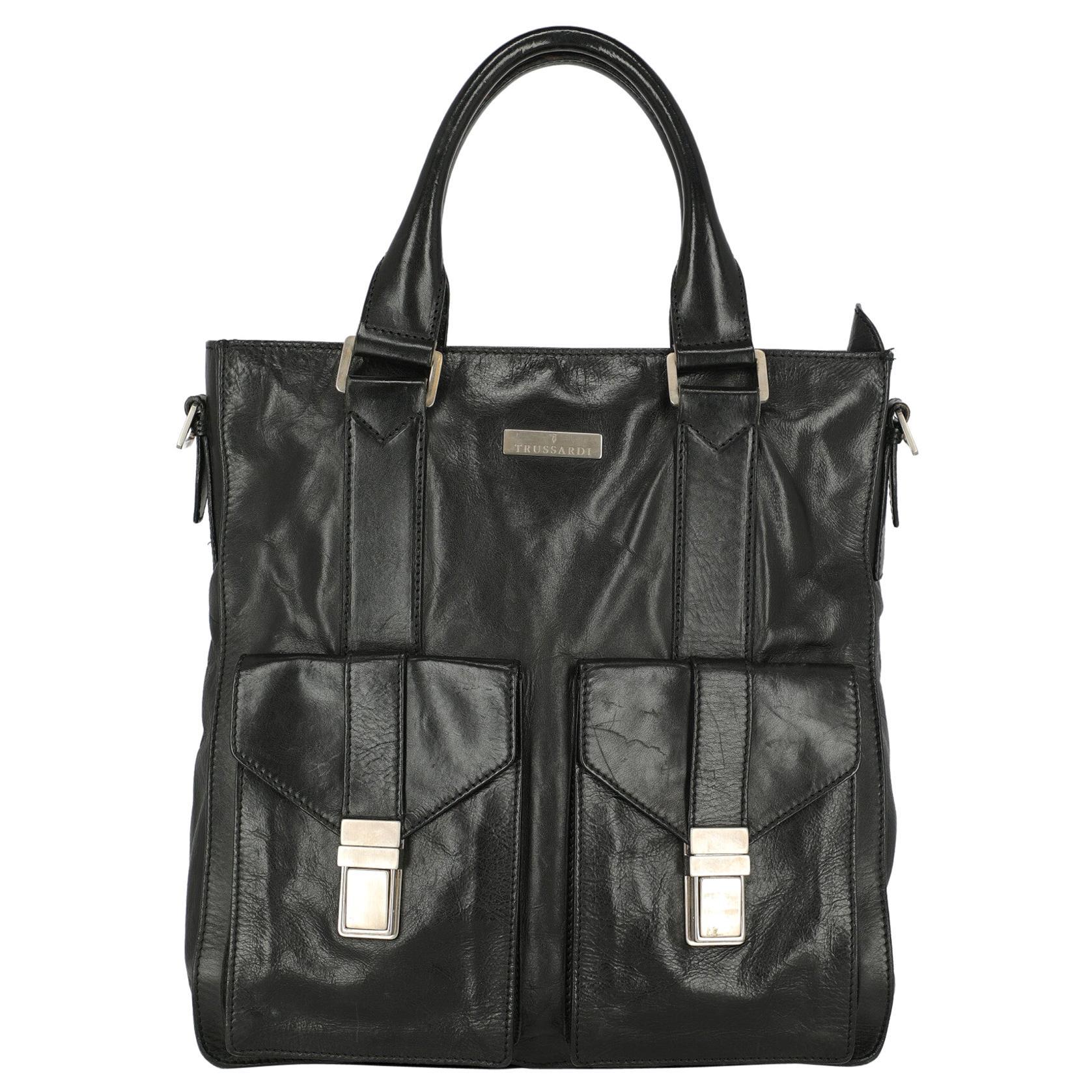 Trussardi Woman Shoulder bag  Black Leather