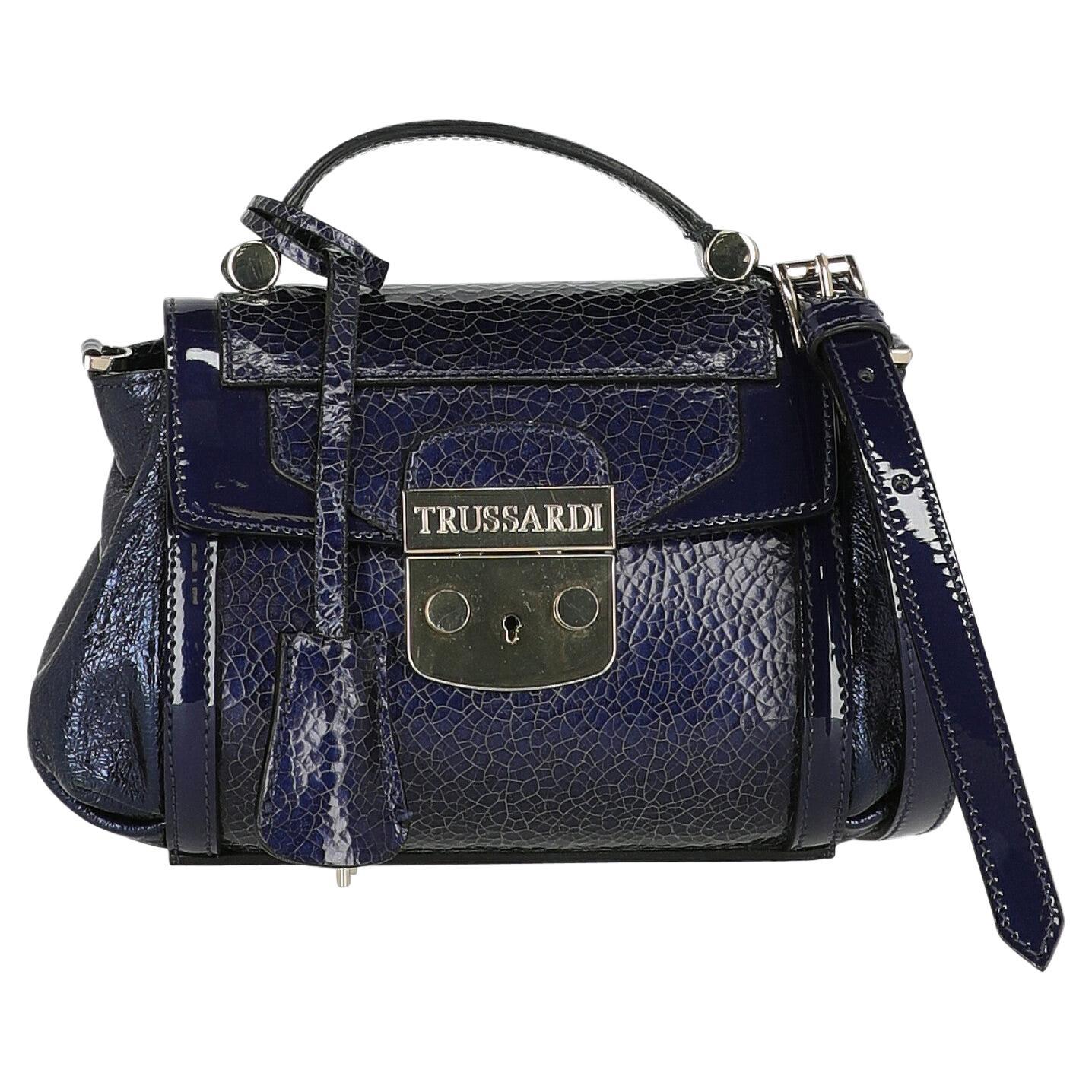 Trussardi Women  Shoulder bags Navy Leather