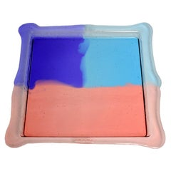 Try Large Square Tray in Clear Purple, Light Ruby, Light Blue by Gaetano Pesce
