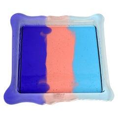 Try Medium Square Stripes Tray in Purple, Light Ruby & Blue by Gaetano Pesce