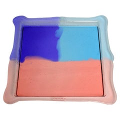 Try Medium Square Tray in Clear Purple, Light Ruby, Light Blue by Gaetano Pesce