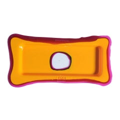Try Small Rectangular Tray in Matt Warm Yellow, Clear Fuchsia by Gaetano Pesce