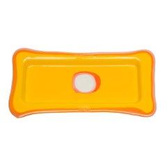 Try Small Rectangular Tray in Matt Yellow, Clear Fuchsia by Gaetano Pesce
