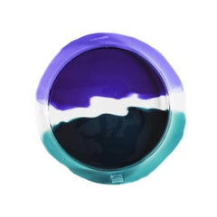 Try-Tray Large Round Tray in Clear Purple, Clear, Emerald Green by Gaetano Pesce