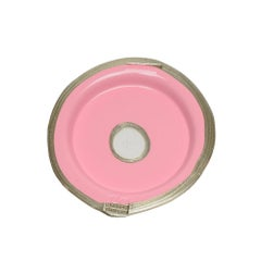 Try-Tray Large Round Tray in Matt Pink, Bronze by Gaetano Pesce