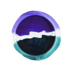 Try-Tray Medium Round Tray, Clear Purple, Clear, Emerald Green by Gaetano Pesce