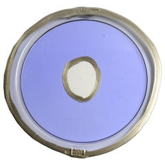 Try-Tray Medium Round Tray in Clear Lilac, Bronze by Gaetano Pesce