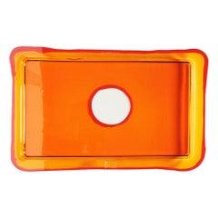 Try-Tray Small Rectangular Tray in Clear Orange, Matt Orange by Gaetano Pesce