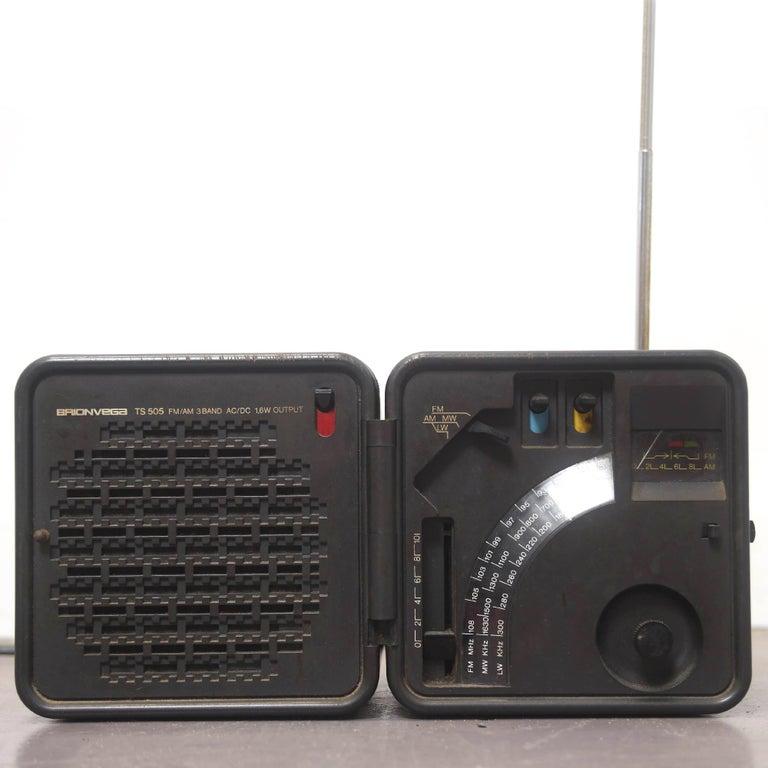 Mid-Century Modern TS 505 Cube Radio by Marco Zanuso & Richard Sapper for Brionvega, 1976 For Sale
