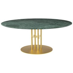 TS Column Lounge Table, Round, Brass Base, X-Large, Marble