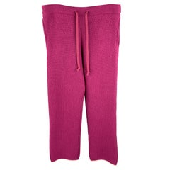 TS (S) Size M Raspberry Knitted Wool Blend Drawstring Sweatpants