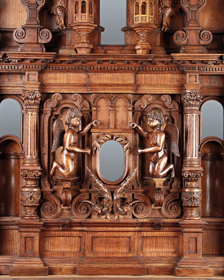 Hand-Carved Tsar Nicholas II's Winter Palace Armoire For Sale