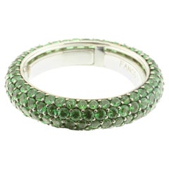 Tsavorite and White Gold Eternity Ring, Multi-Size