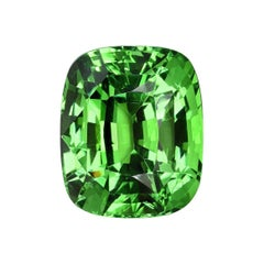 Tsavorite Cushion Cut 7.08 Carat