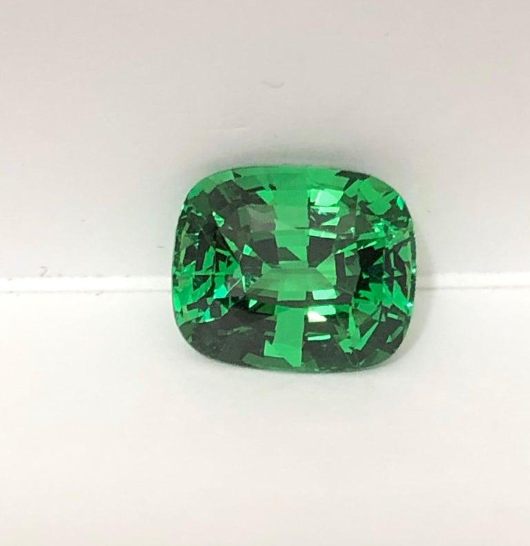 Modern Tsavorite Ring Gem 7.08 Carat Loose Gemstone For Sale