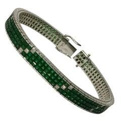 Tsavorite-Diamond Bracelet