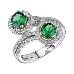Tsavorite Diamond Ring