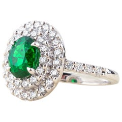 Tsavorite Diamond Ring in 18 Karat