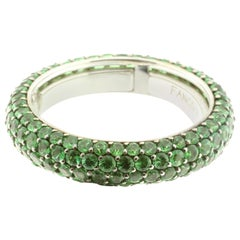 Tsavorite Eternity Ring in 18 Karat White Gold