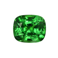 Tsavorite Cushion Cut 7.44 Carat