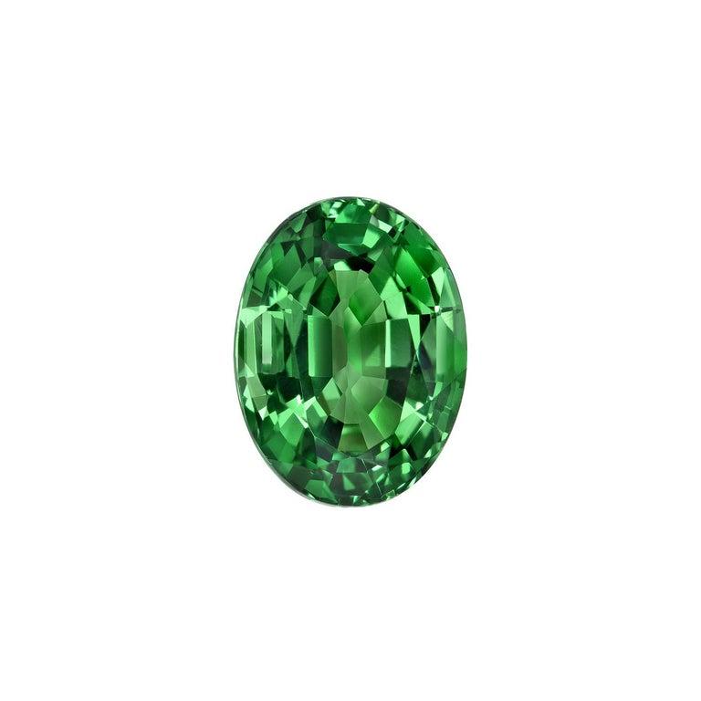 Modern Tsavorite Ring Gem 1.55 Carat Oval Loose Gemstone For Sale