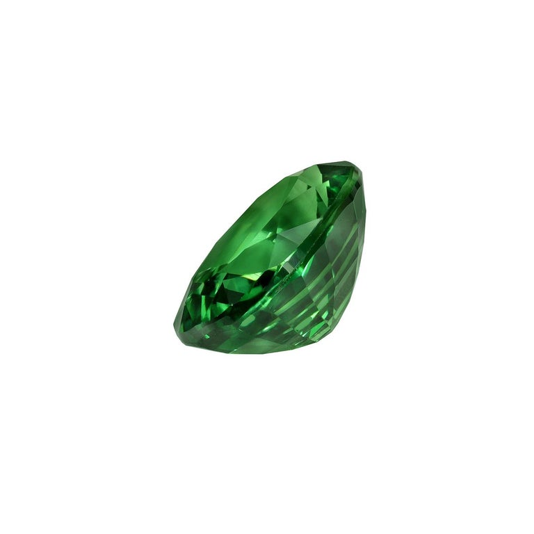 Oval Cut Tsavorite Ring Gem 1.55 Carat Oval Loose Gemstone For Sale
