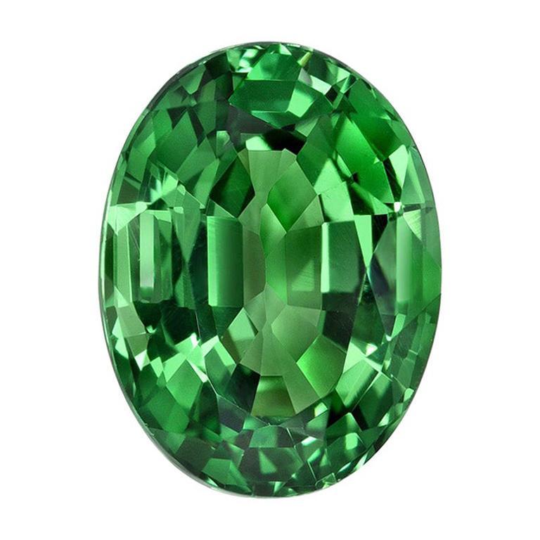 Tsavorite Ring Gem 1.55 Carat Oval Loose Gemstone For Sale