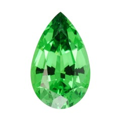 Tsavorite Garnet Ring Gem 2.09 Carat Pear Shape Loose Unset Gemstone