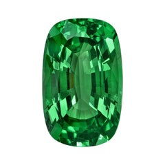 Tsavorite Garnet Ring Gem 3.36 Carat Elongated Cushion Loose Unset Gemstone