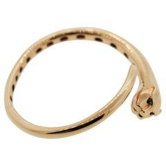 Tsavorite Gold Panther Bangle Bracelet