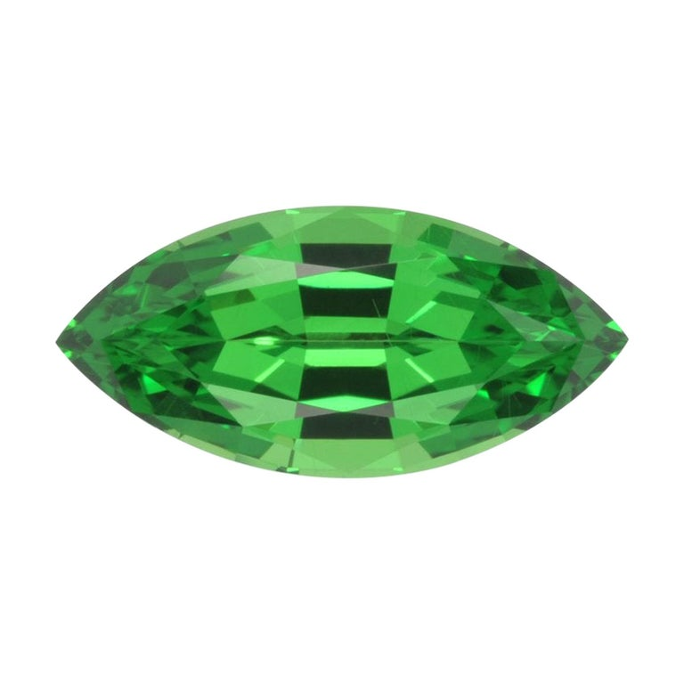Tsavorite Ring Gem 2.80 Carat Marquise Loose Gemstone For Sale