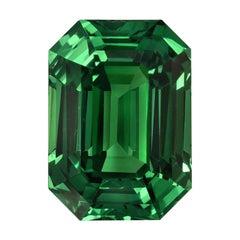 Tsavorite Ring Gem 3.03 Carat Emerald Cut Loose Gemstone