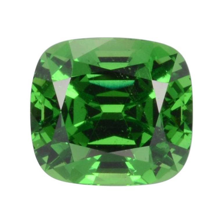 Tsavorite Ring Gem 3.18 Carat Loose Gemstone For Sale