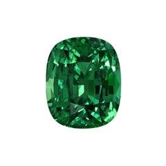 Tsavorite Ring Gem 5.87 Carat Cushion Loose Gemstone