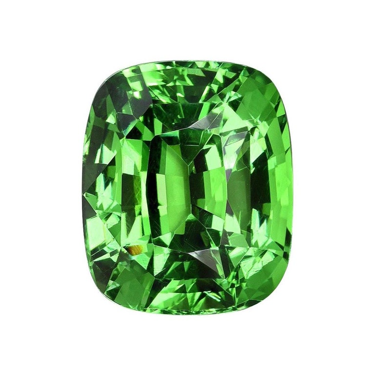 Tsavorite Ring Gem 7.08 Carat Loose Gemstone For Sale